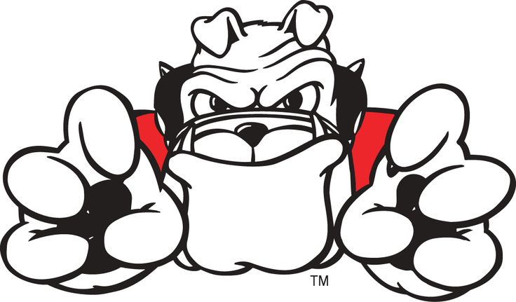 Football Bulldog Drawing | Georgia Bulldogs Mascot Logo - NCAA Division I (d-h) (NCAA d-h ...
