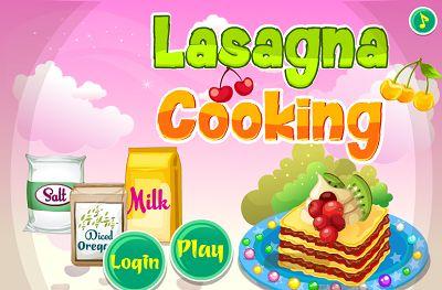 Lasagna Cooking : Jogue este divertido jogo de culinária e aprender a fazer passo a passo uma deliciosa lasanha.  Vamos começar!