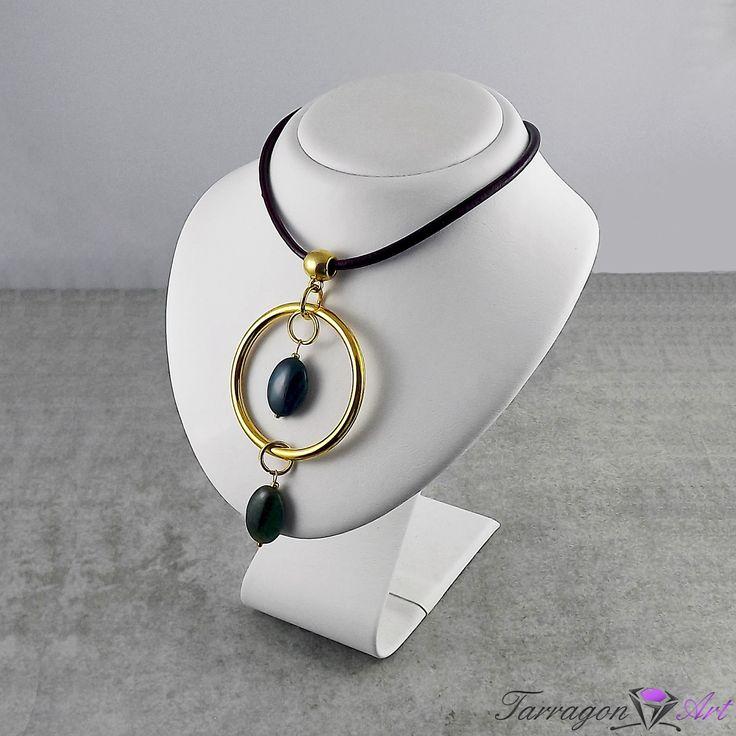 Naszyjnik Circles - Agate - NOWA KOLEKCJA - Tarragon Art - stylowa biżuteria artystyczna