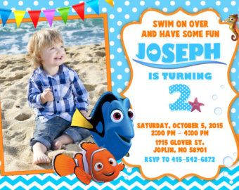 Finding Nemo Invitation Finding Nemo Birthday Finding Nemo