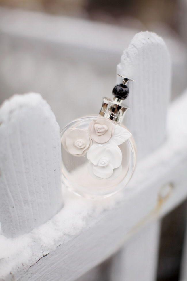 Parfum, flacon, blanc
