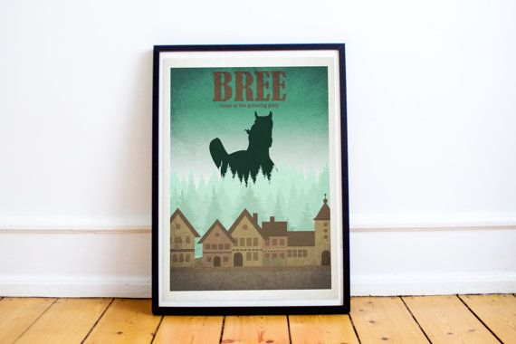 Prancing Pony - Bree - Lord of the Rings - Hobbit - Travel Poster Style Art Print - Lord of the Rings Poster - Retro - Wall Art - Home Decor