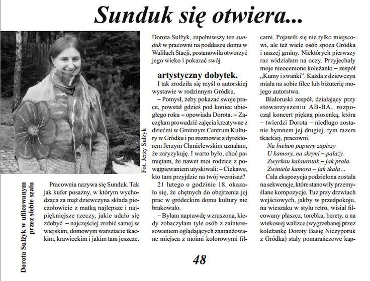 Sunduk Pracownia Doroty Sulżyk: Sunduk się otwiera...