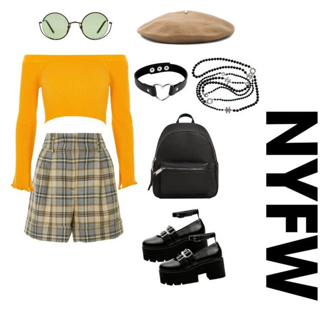 Untitled #4 by diana-jevcakova on Polyvore featuring polyvore fashion style River Island Alberta Ferretti Ancient Greek Sandals MANGO Chanel Janessa Leone clothing contestentry NYFWPlaid