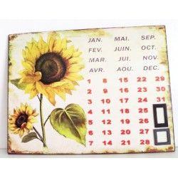 Plechový kalendář - Slunečnice