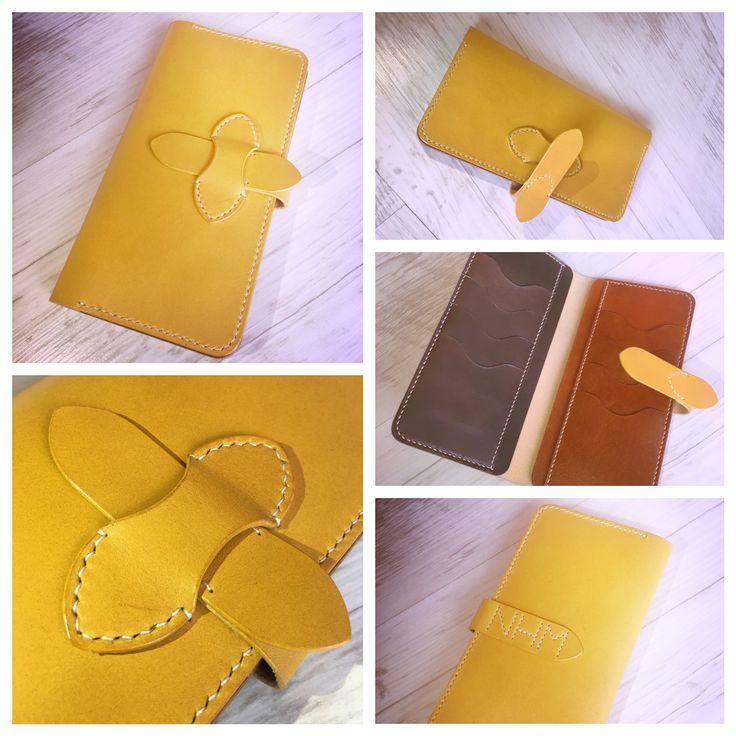 leather wallet_women_card holder_long