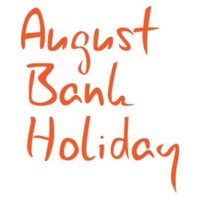 Its the bank holiday!!! our shops are open Saturday 9.30-4 Sunday Closed Bank Holiday Monday Closed. Normal Hours Tuesday 1st September