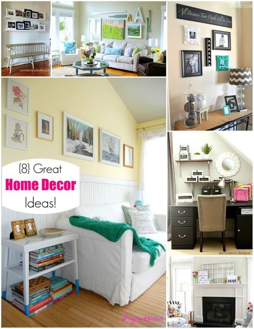 8 Great Home Decor Ideas! -