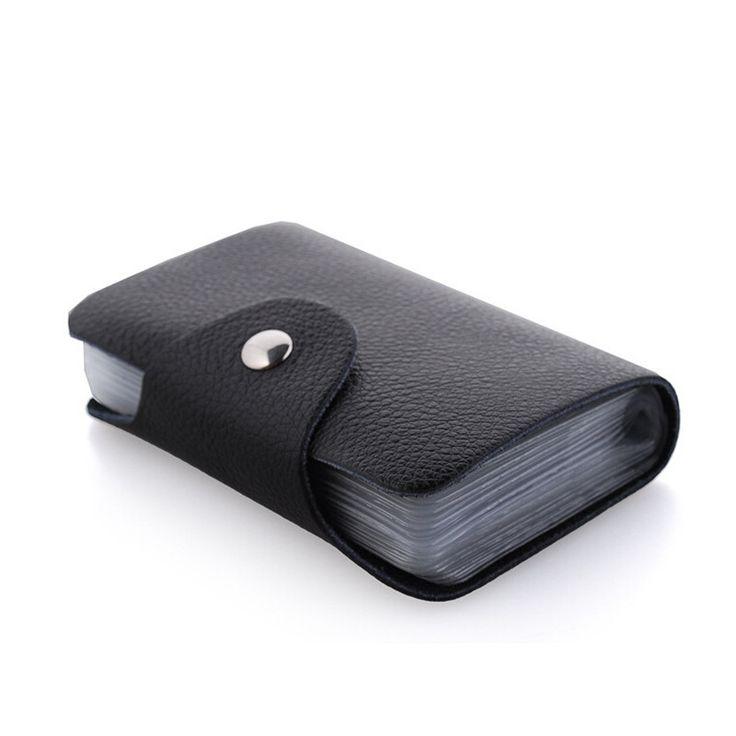26 posizione della carta del raccoglitore 100% di marca del cuoio genuino porta biglietti da visita porta carte di credito nuovo stile cassa di carta di modo JM-01001