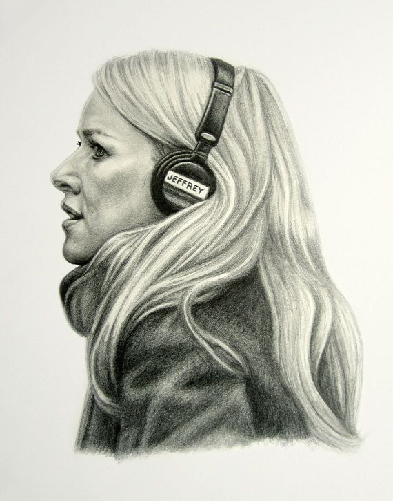 Naomi Watts pencil portrait, fan art, custom portraits