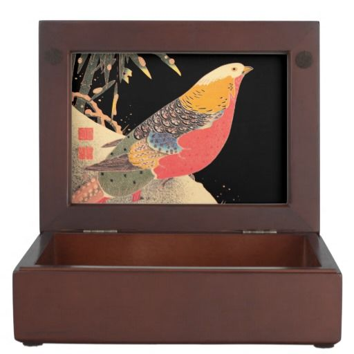 Golden Pheasant in the Snow Itô Jakuchû bird art Keepsake Box