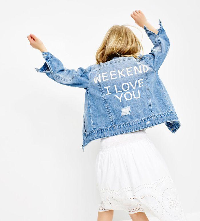 Las cazadoras, las chaquetas y las parkas denim más fashion de este verano 2016. ZARA Kids Collection. Kids denim jackets.
