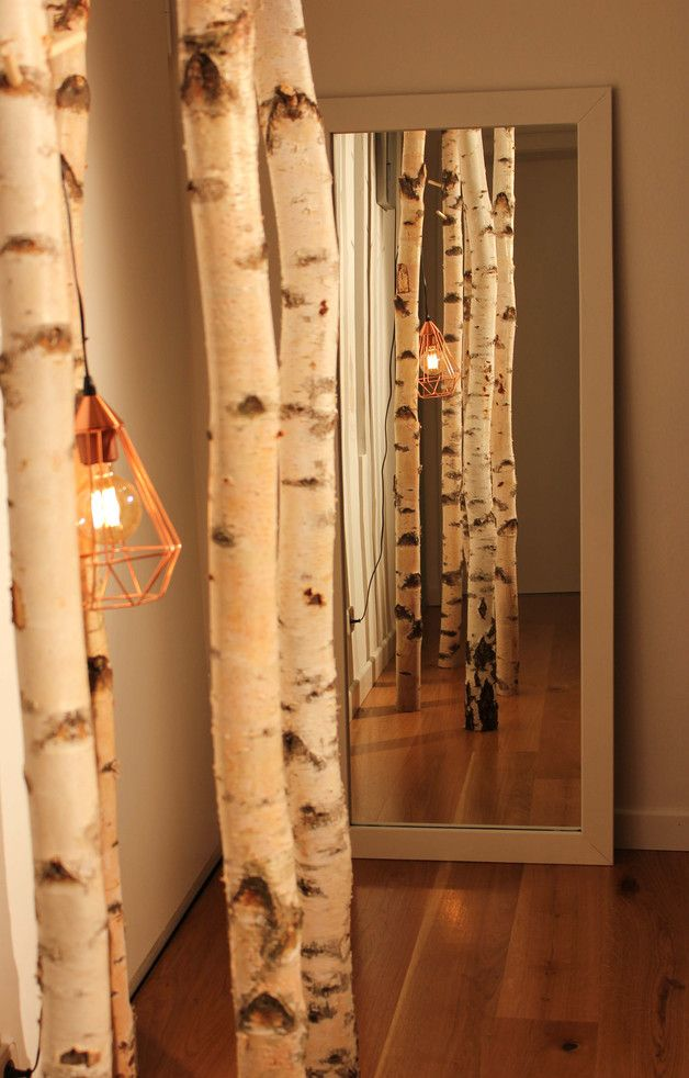 — NEUES AUS DER NECKARMANUFAKTUR — **Design Raumtrenner/-dekoration aus Birkenstämmen** …Bringe Natur in deine Wohnung. Raumtrenner/-dekoration…