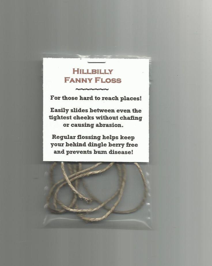 New Hillbilly Fanny Floss Gag Gift Novelty Item Party Favor Stocking Stuffer | eBay