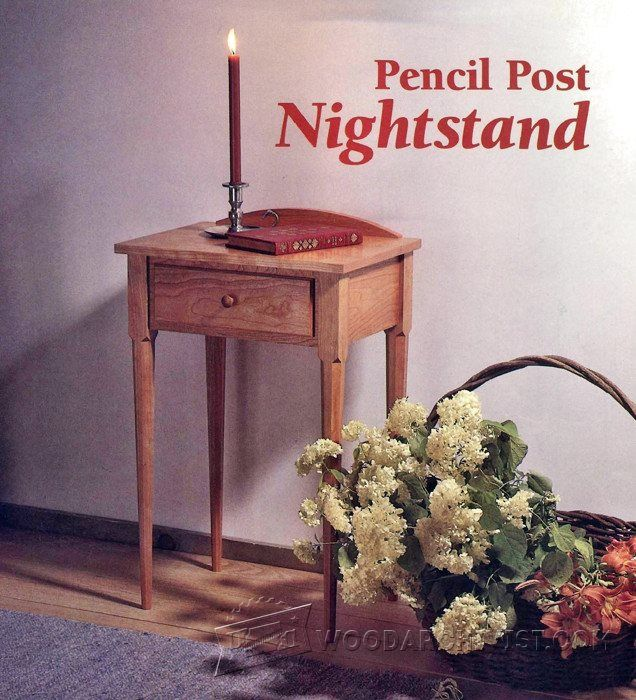 pencil post nightstand plans furniture plans and projects woodarchivistcom - Kopfteil Plant Holzbearbeitung