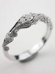 princess cut diamond eternity band with leaf motif rg 3476 vintage wedding bandsvintage - Unusual Wedding Rings