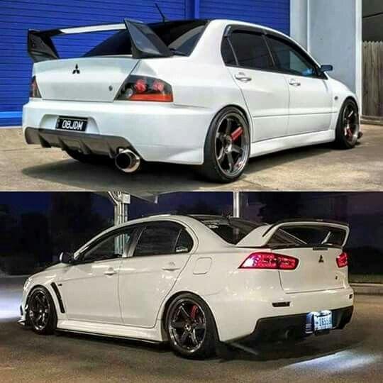 Attractive White Evos · Mitsubishi Lancer EvolutionRally ...