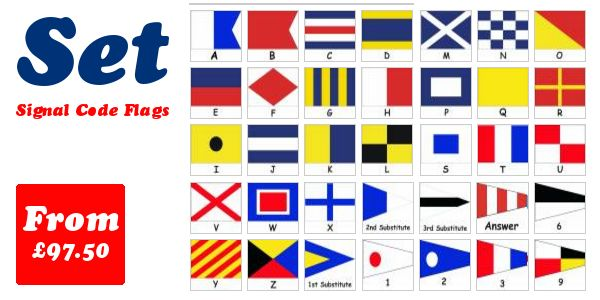 Signal Code Flag Set in polyester bunting - From £104.00