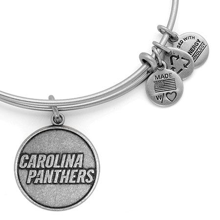 Alex and Ani Carolina Panthers NFL Football Bangle Russian Silver