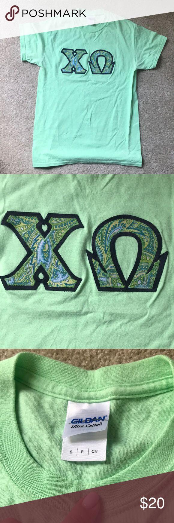Chi omega Vera Bradley letters Mintlike green colored