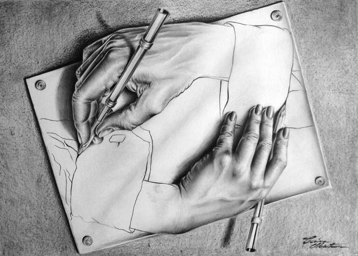 Drawing Hands - Desen în Creion de Corina Olosutean // Drawing Hands - Pencil Drawing by Corina Olosutean