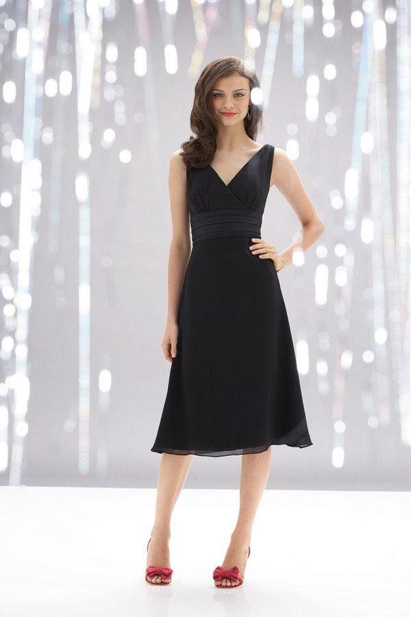 25  best ideas about Black tea length dress on Pinterest   Black ...