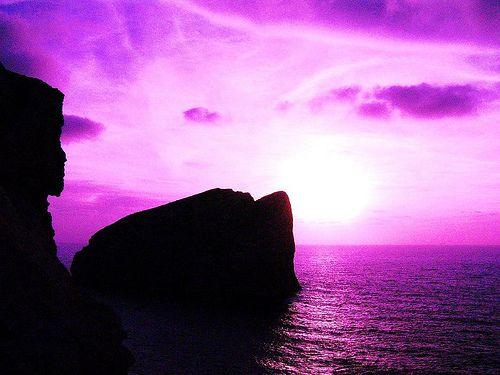 Crissi Piras - tramonto viola capo caccia Alghero