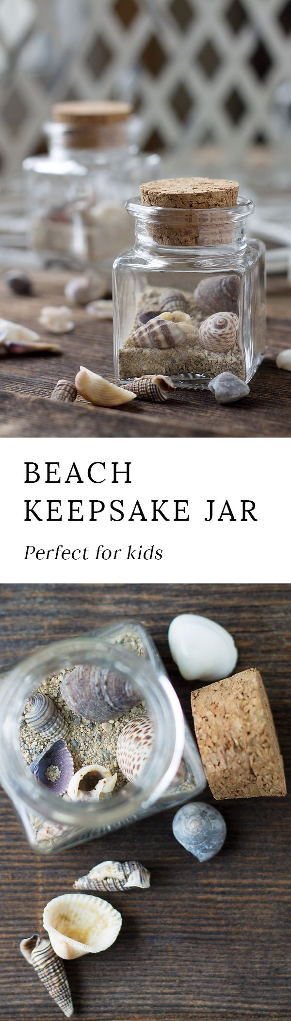 This Simple Beach Keepsake Craft is the perfect DIY souvenir for kids to remember their special seaside adventure! via @https://www.pinterest.com/fireflymudpie/