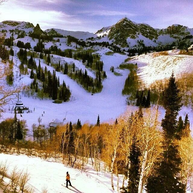 Been asked to help blaze the trails of snow basin on horse back this morning... #snow basin Utah