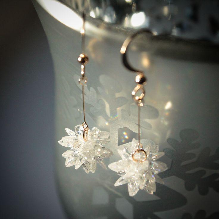 Zbliżają się Święta. Miłym gestem jest obdarować najbliższych prezentem, który zostanie na dłużej. Do takich należy biżuteria. Kolczyki przypominające śnieżne gwiazdki. Piękne:-)