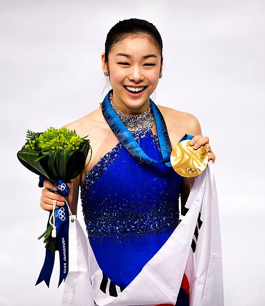 Yuna Kim Of South Korea With Her Olympic Gold Medal, 2010