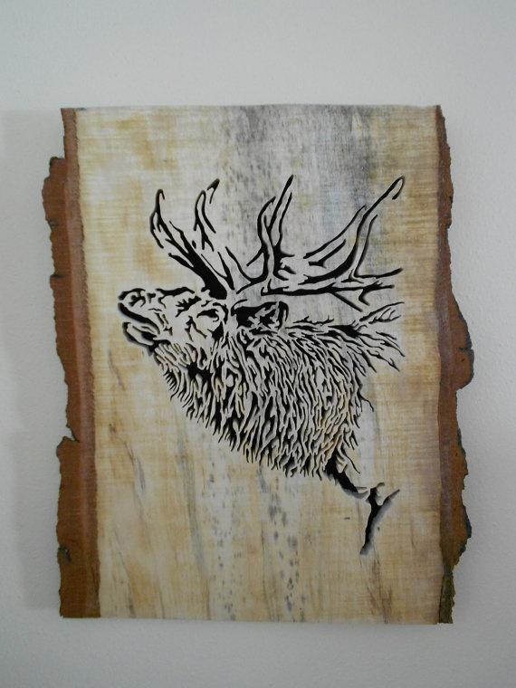 Beautiful scroll saw art with over 125 individual cuts
