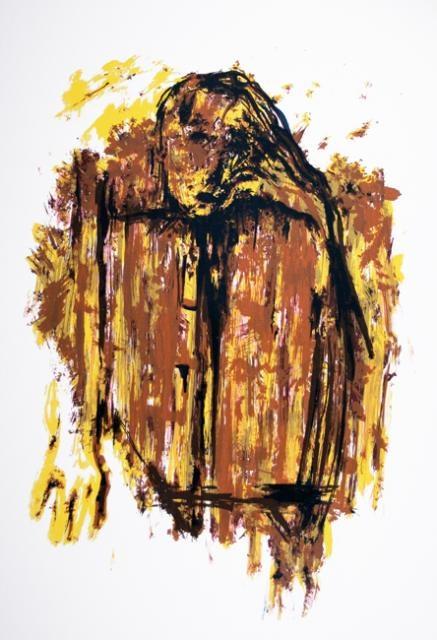 Gabriel Estrada,  Inside Hurt, 1995,  Screenprint, #LatinoArt #MexicanAmericanArt #serigraphy #printmaking