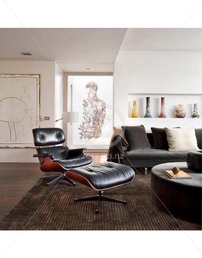 Replica Eames Lounge Chair U0026 Ottoman   Premium Black/Rosewood   ZUCA    Homeware, Design Inspirations