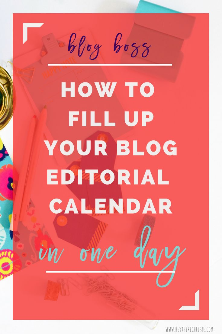 New to blogging and trying to get your feet on the ground? This post will teach you how to fill up your blog editorial calendar for a month in ONE day! Plus, there are 30 blog post ideas to get you started! // Hey There, Chelsie