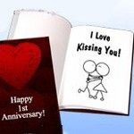 A LoveBook could contain all the moments of the year getting to a first anniversary.