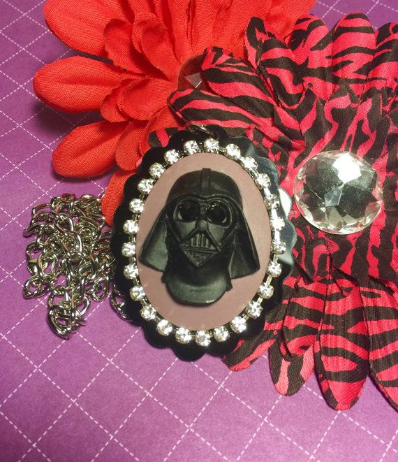 Blinging Darth Vader Cameo Necklace by MissMetalsJewellery on Etsy