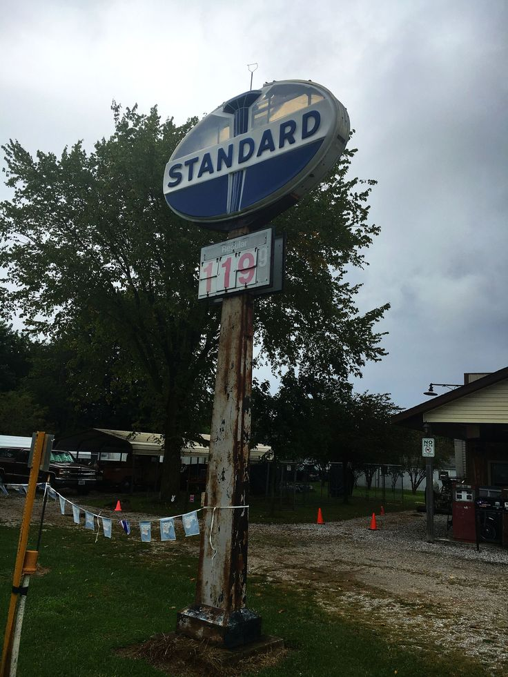 Staunton, IL:  Old Standard Oil sign at Henry's Rabbit Ranch on Route 66 - Photo by Stu Rapley on F;ickr | https://flic.kr/p/QUt6zU | Standard Oil | Old Standard Oil sign at Henry's Rabbit Ranch in Staunton, Illinois on Route 66