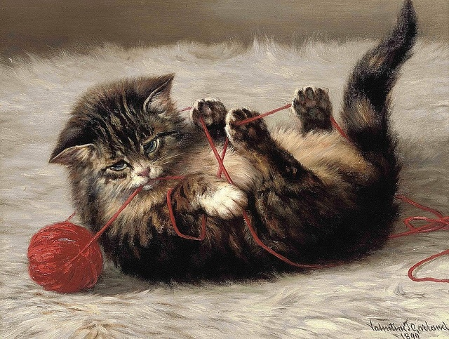 Valentine Thomas Garland (1868-1914) - Cat's cradle, 1899