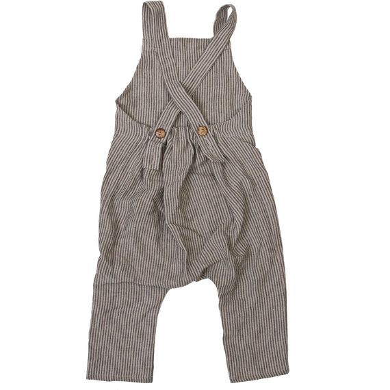 Harem Pants with suspender Boys linen romper Unisex kids Harem