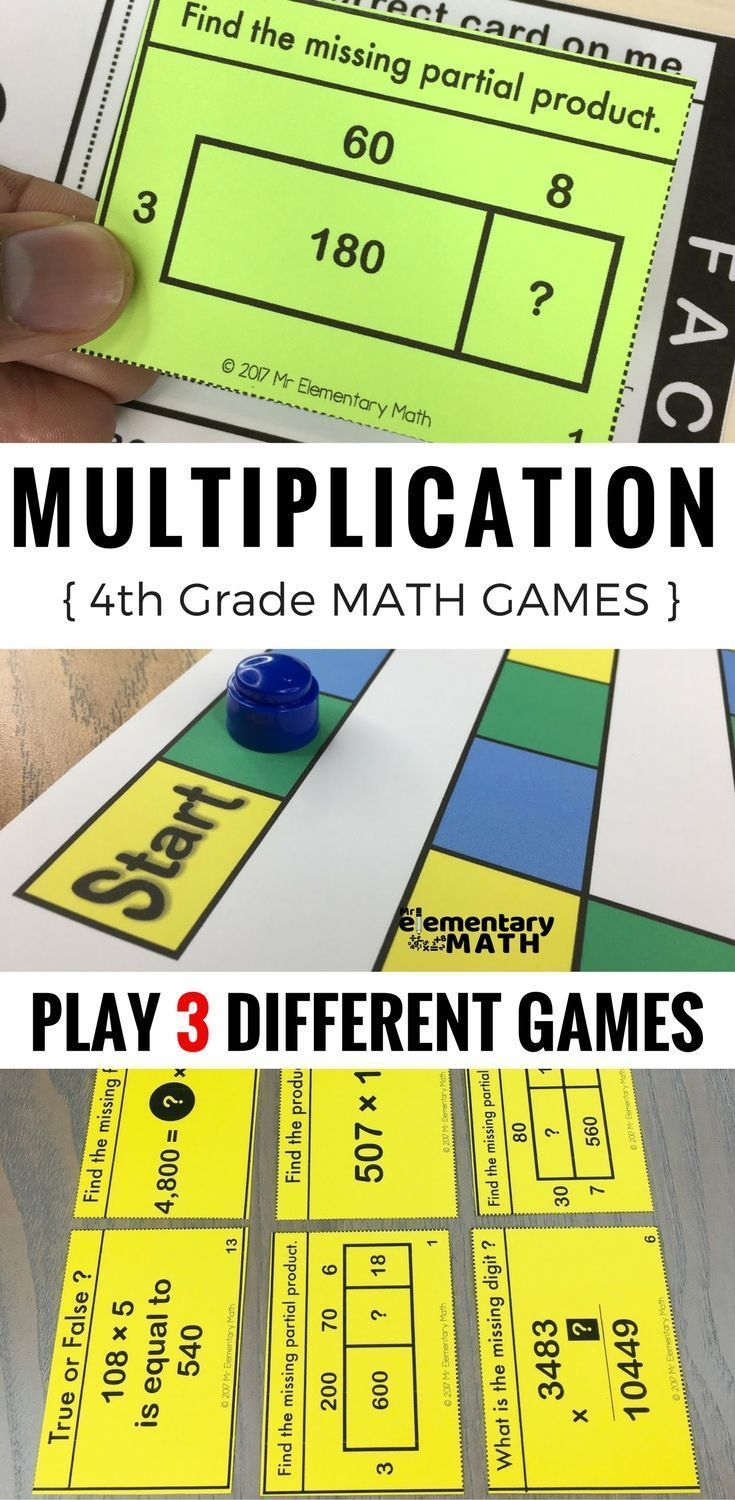 Multiplication games for your 4th grade students are a fun alternative to worksheets. Check out these 3 math games that are great for your 4th grade math centers.
