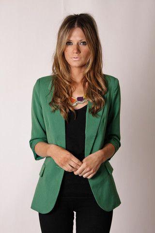 Casaco verde e blusa preta Dream a Dream Blazer- Forest