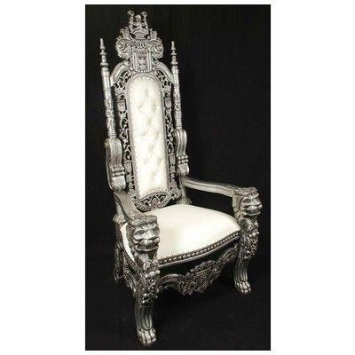Harris Furniture, LK 1 SW, , Silver White Lion King Throne