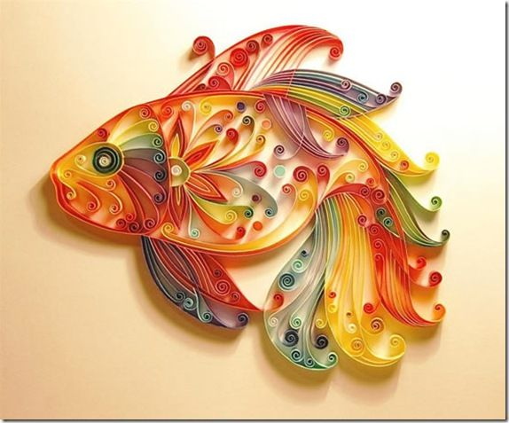 : Paperfish, Rainbows Fish, Paperquilling, Paper Art, Paperart, Paper Fish, Paper Quilling, Paper Strips, Paper Crafts