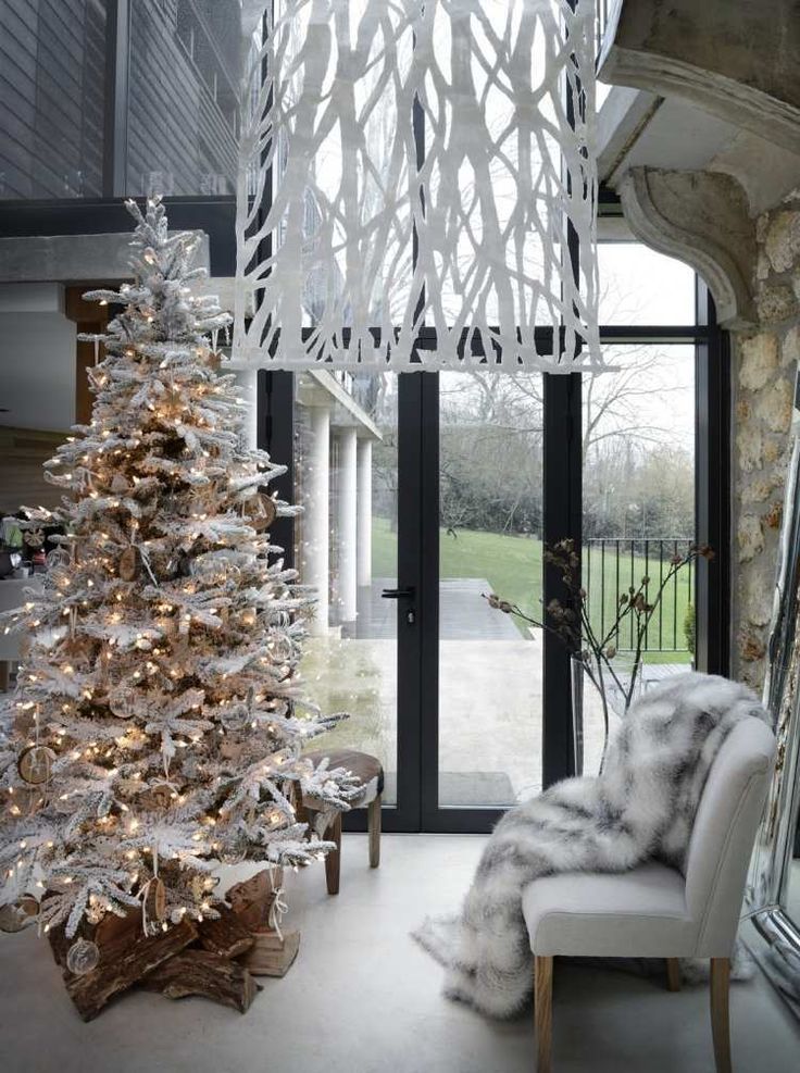 decoration noel interieur salon scandinave sapin noel dco