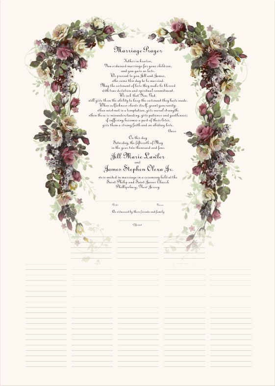 8 Best Wedding Certificates Images On Pinterest | Wedding