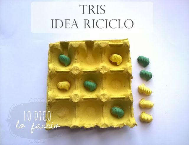 Giochiamo a Tris con il cartone delle uova #tictactoe #under12 #summer #kids #ideariciclo