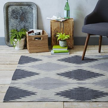 Ultimately I don't like the rug, as the pattern is too reminiscent of Navajo or whatever, but the palette is what I am looking for.   Phoenix Wool Dhurrie Rug - Iron #westelm