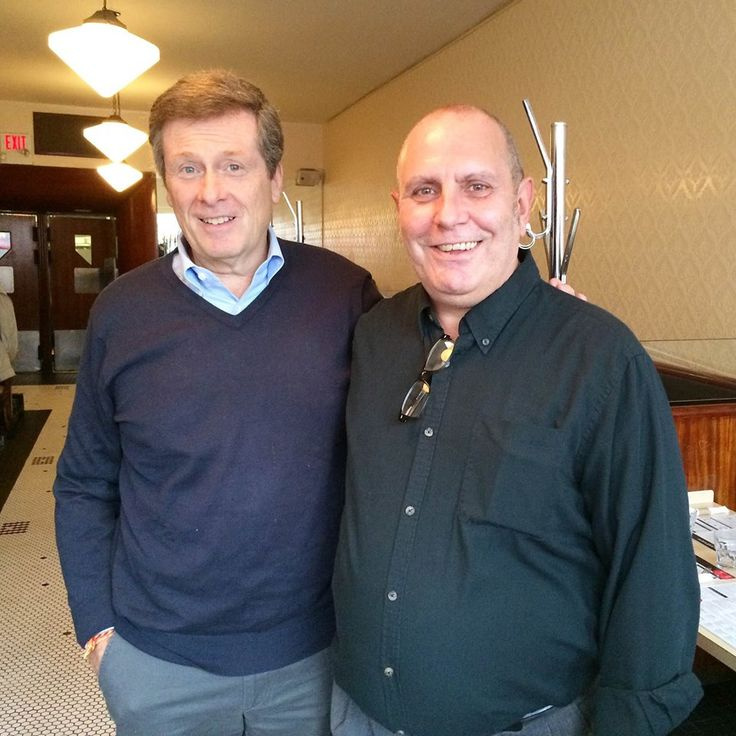 2014: John Tory and Manager, John Vetere at The Lakeview