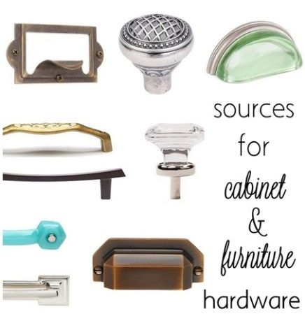 sources for cabinet and furniture hardware